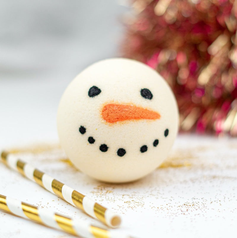 snowman christmas natural eco friendly bath bomb soul and soap