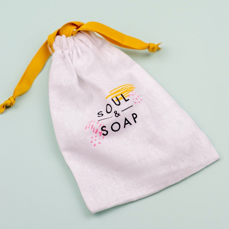 soul and soap shampoo and soap bar bag