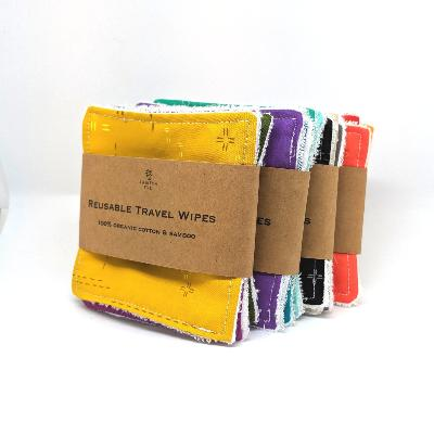 Organic Bamboo & Cotton Travel Wipes | Tabitha Eve