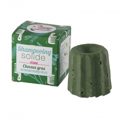 Lamazuna Solid Shampoo for Oily Hair, Wild Herb
