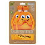 Reusable Food Pouch - Orange | Little Mashies