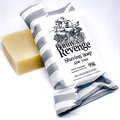 Bonnie's Revenge Aloe Vera Shaving Soap for Sensitive Skin