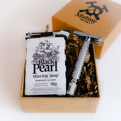 The Black Pearl Rosemary & Lime Mini Shaving Kit