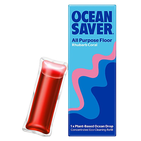 OceanSaver cleaning drop all purpose floor rhubarb coral