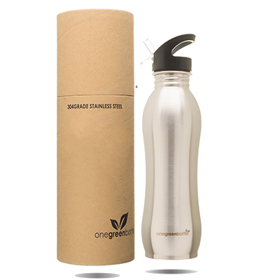 Curvy Stainless Steel Bottle - Nude (800ml) | One Green Bottle