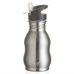 One Green Bottle Stainless Steel Bottle - Curvy Steel (350ml)