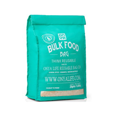Reusable Bulk Food Large Bag - Aqua | Onya