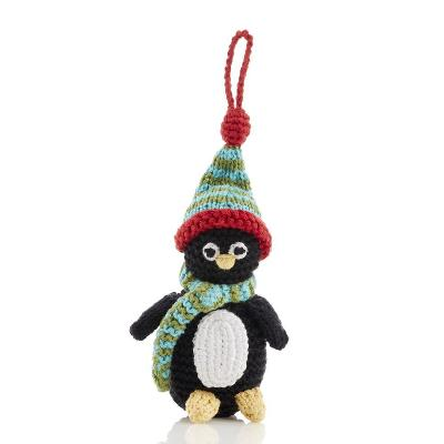 Fair Trade Cotton Christmas Decoration - Penguin