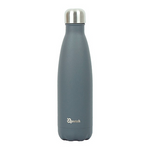 Insulated Stainless Steel Bottle - Granite Grey (500ml) | Qwetch