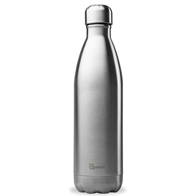 Qwetch Insulated Stainless Steel Bottle - Brushed Steel (750ml)