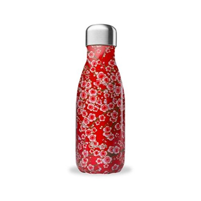 Insulated Stainless Steel Bottle - Flowers Red 260ml | Qwetch