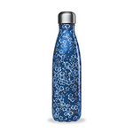 Insulated Stainless Steel Bottle - Flowers Blue 500ml | Qwetch