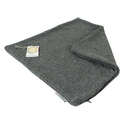 Recycled Wool Cushion Cover - Dark Grey | ReSpiin