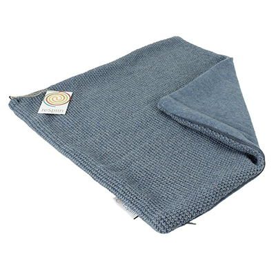 ReSpiin Recycled Wool Cushion Cover - Knitted Denim