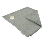 Recycled Wool Cushion Cover - Plain Square Light Grey | ReSpiin