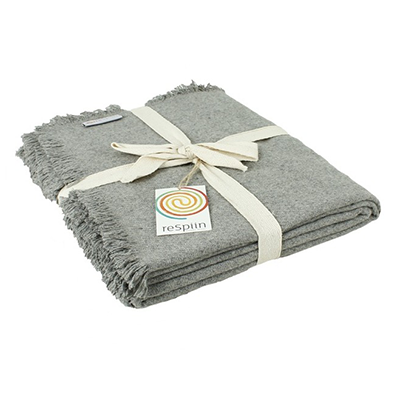 Recycled Wool Throw - Light Grey | ReSpiin