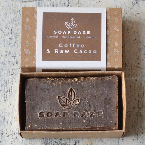 Soap Daze Natural Soap Bar Coffee and Raw Cacoa