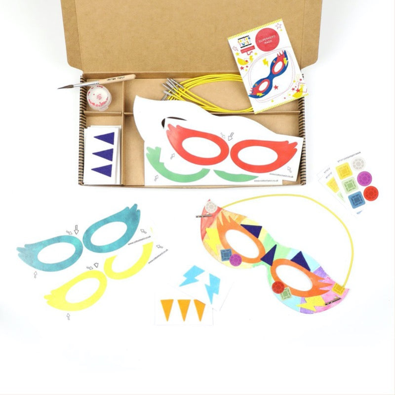 Cotton Twist Super Hero Mask Kit plastic free craft ideas