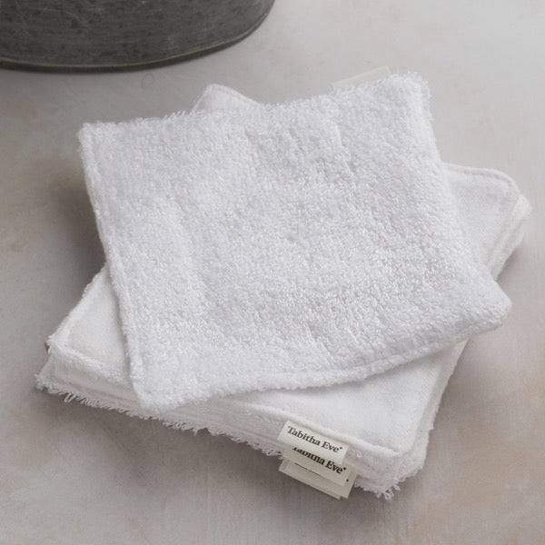 reusable wipes eco friendly white cotton Tabitha Eve