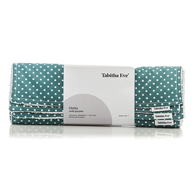 Tabitha Eve Bamboo/Cotton Multi Cloth Set of 3 Dotted