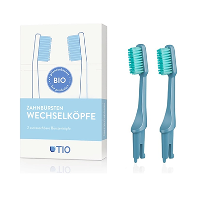 Plant-based Toothbrush Replacement Heads (2pk) | Tio