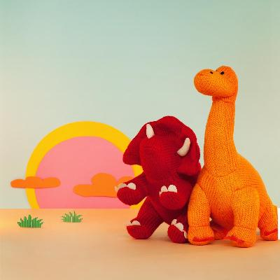 Knitted Diplodocus Dinosaur Rattle | Best Years