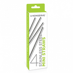 U-Konserve Stainless Steel Mini Straws - 4 Pack