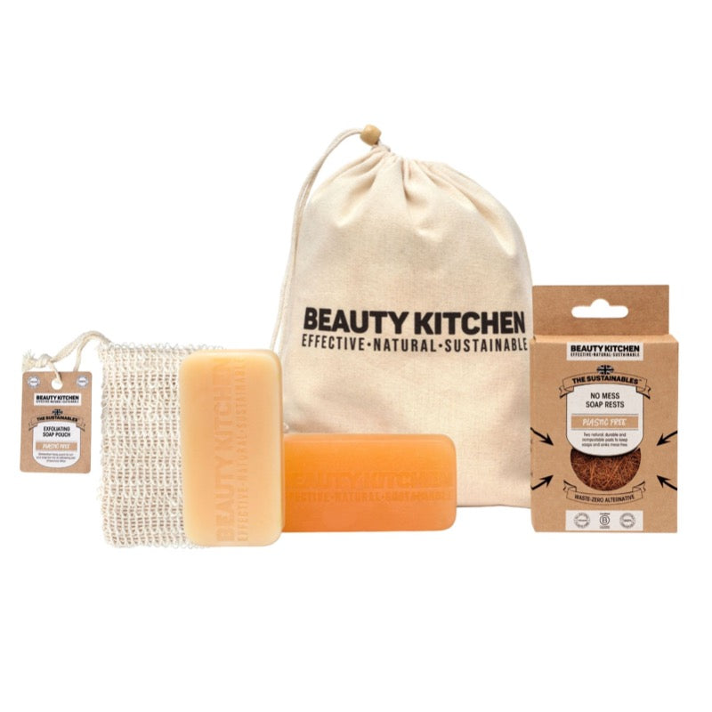 Plastic free hand soap collection beauty kitchen gift set