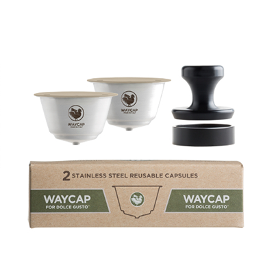 WayCap for Dolce Gusto - Reusable Steel Coffee Capsules (2 Pack)