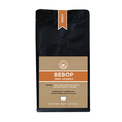 WayCap Ground Coffee For Reusable Coffee Pods - Bebop