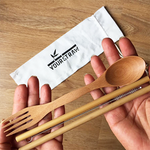 Your Straw Bamboo Spork & Straw Set