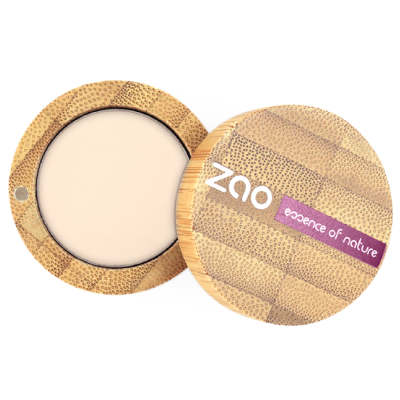 Zao Refillable Vegan Eye Shadow (202 Brown Beige) with Bamboo Case