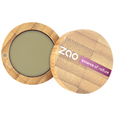 Zao Refillable Vegan Eye Shadow (207 Olive Green) with Bamboo Case