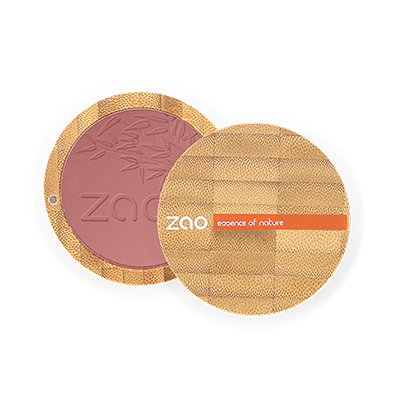 Zao Refillable Compact Blush Brown Pink