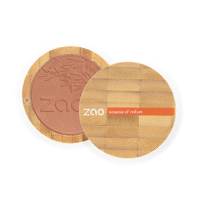 Zao Refillable Compact Blush Golden Coral