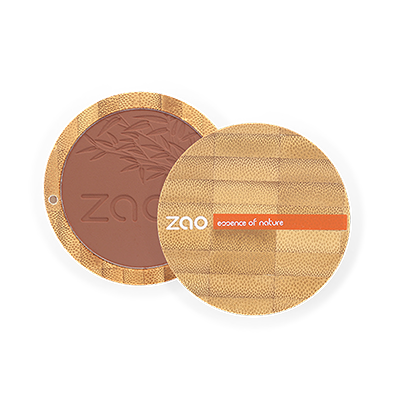 Zao Refillable Compact Blush Brown Orange