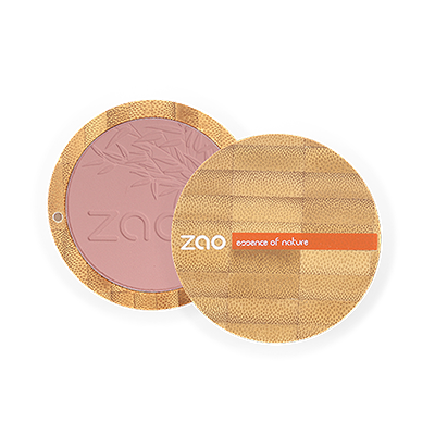 Zao Refillable Compact Blush Lilac Pink
