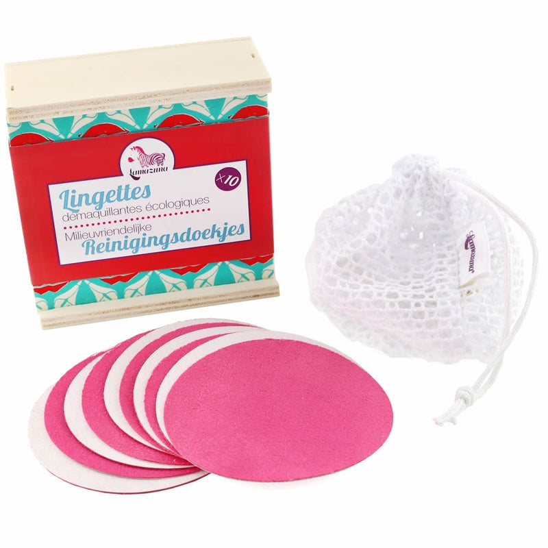 Lamazuna Reusable Cleansing Wipes with Wooden Box