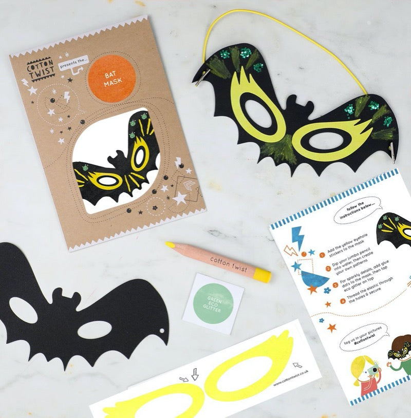 Cotton Twist make your own bat mask craft kit