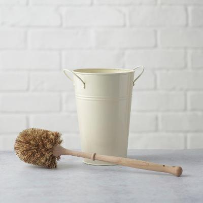 Plastic Free Toilet Brush & Holder Set (Smaller Brush)