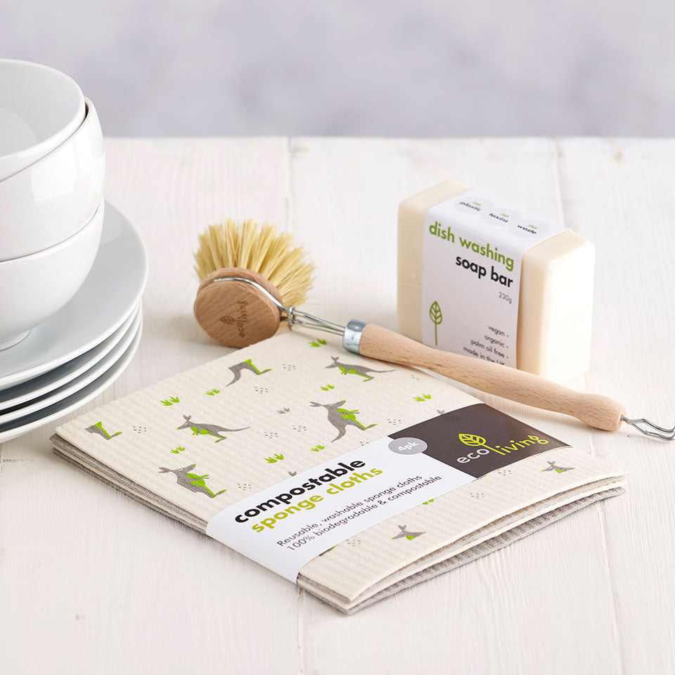 Compostable Sponge Cleaning Cloths | EcoLiving