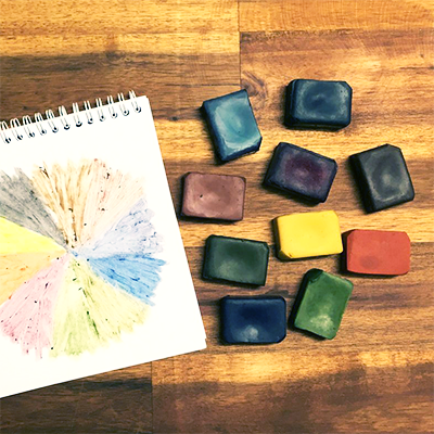 10 Colour Vegan Crayon Box | Eco Crayons