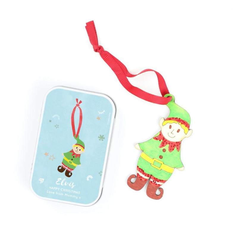 Make your own elf christmas decoration cotton twist eco friendly kids gifts