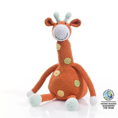 Fair Trade Large Cotton Giraffe | Pebble