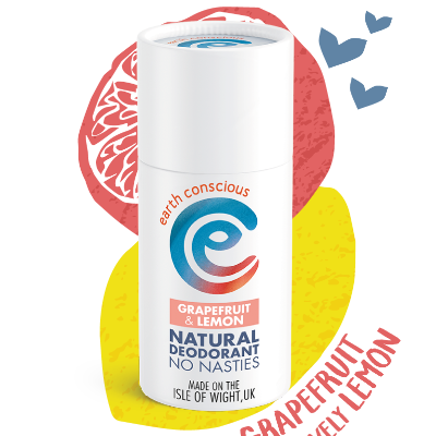earth conscious citrus plastic free natural deodorant stick