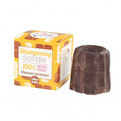 Lamazuna Solid Shampoo for Normal Hair, Chocolate