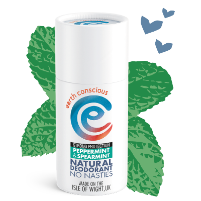 earth conscious mint plastic free natural deodorant stick