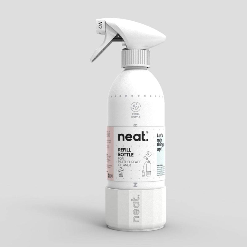 refillable aluminium cleaning spray bottle
