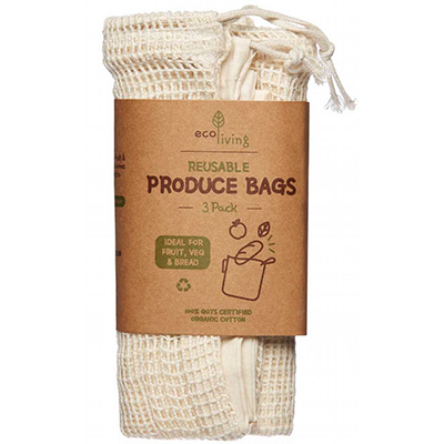 Cotton Food Bags Set | Eco Living
