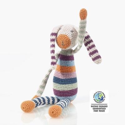 Fair Trade Organic Cotton Bunny Rattle | Pebble